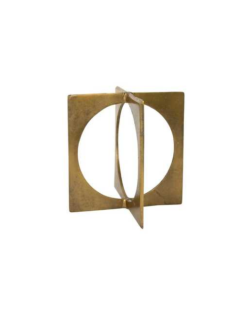 """BRASS CIRCLE IN SQUARE - 8""""H - McGee & Co."""