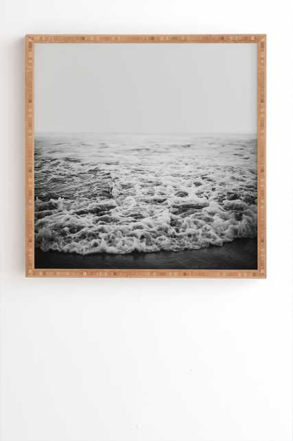 "INFINITY framed wall art - 30"" x 30"" - Weathered Black frame - Wander Print Co."