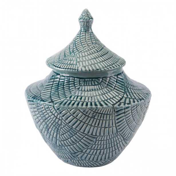 Small Escalera Covered Jar Mint - Zuri Studios