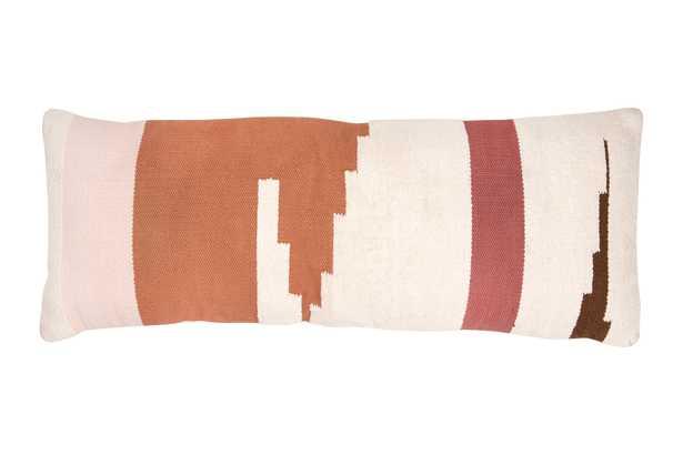 """Calico Lumbar Pillow, 50"""" x 18"""" - Roam Common"""