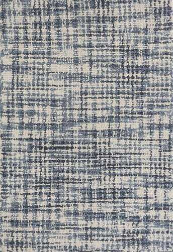 Olio Blue Hooked Wool Rug - Dash and Albert