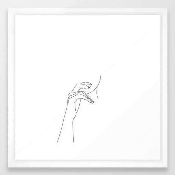 Hands line drawing illustration - Grace Framed Art Print - Society6