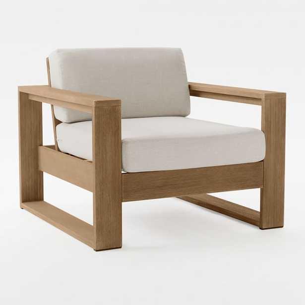 Portside Outdoor Lounge Chair, Driftwood - West Elm