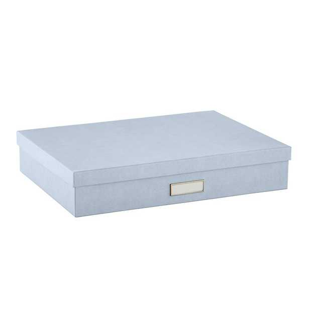 Bigso Stockholm Document Box Steel Blue - containerstore.com