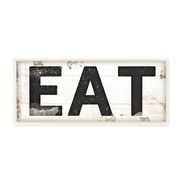 'Eat Typography Vintage Sign' Wrapped Canvas Textual Art on Canvas - Birch Lane