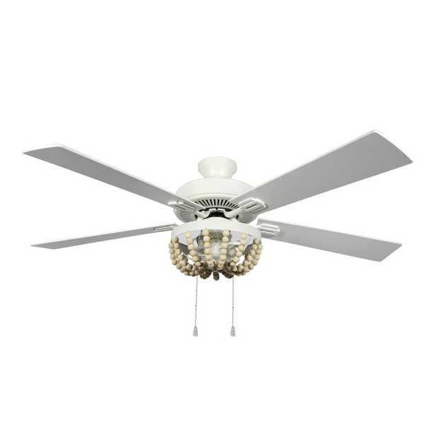 """Bungalow Rose 52"""" Anshul 5 -Blade Standard Ceiling Fan with Pull Chain and Light Kit Included - Wayfair"""
