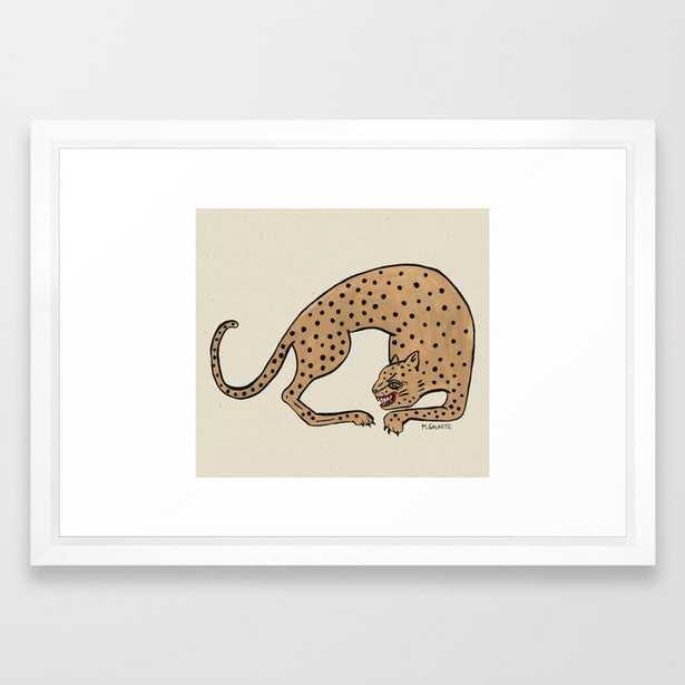 Cheetah Framed Art Print - Society6