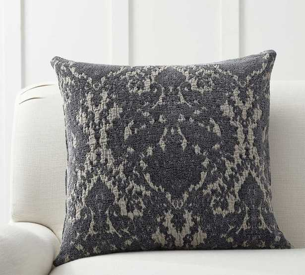 """Devin Jacquard Pillow Cover, 22"""", Charcoal - Pottery Barn"""