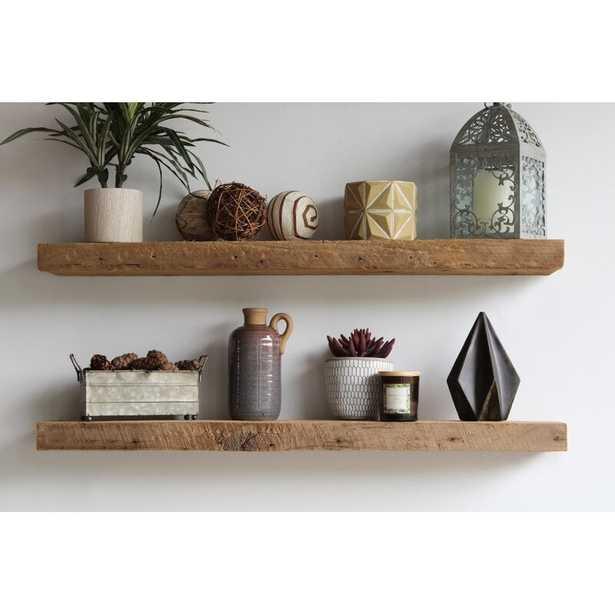 Joao Reclaimed Barn Wood Accent Floating Shelf - Wayfair