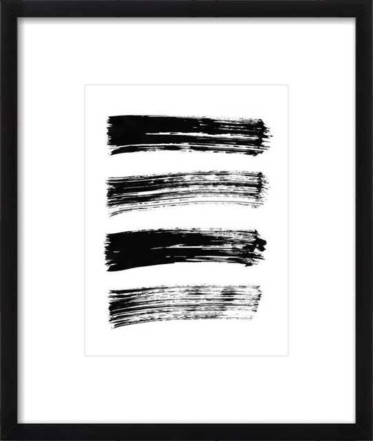 Lines of the Heart, Black Wood Frame with Mat, 16x19 framed - Artfully Walls