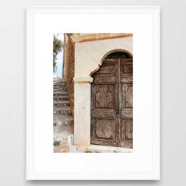 The Way to Greece II Framed Art Print - Society6