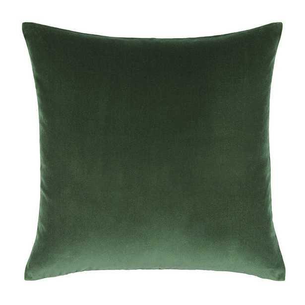 """Ballard Designs Signature Velvet & Linen Pillow Cover Emerald 20"""" x20"""" - Ballard Designs"""