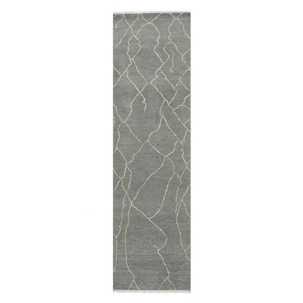 Mountain Fog Hand-Knotted Rug, Grey 3' x 10' - Williams Sonoma