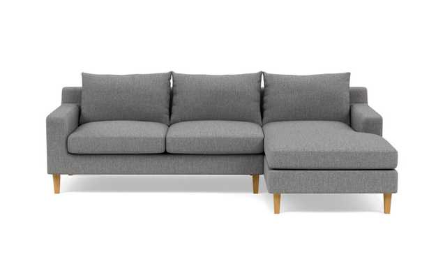 """SLOAN Sectional Sofa with Right Chaise, Plow Cross Weave, 104"""" - Interior Define"""
