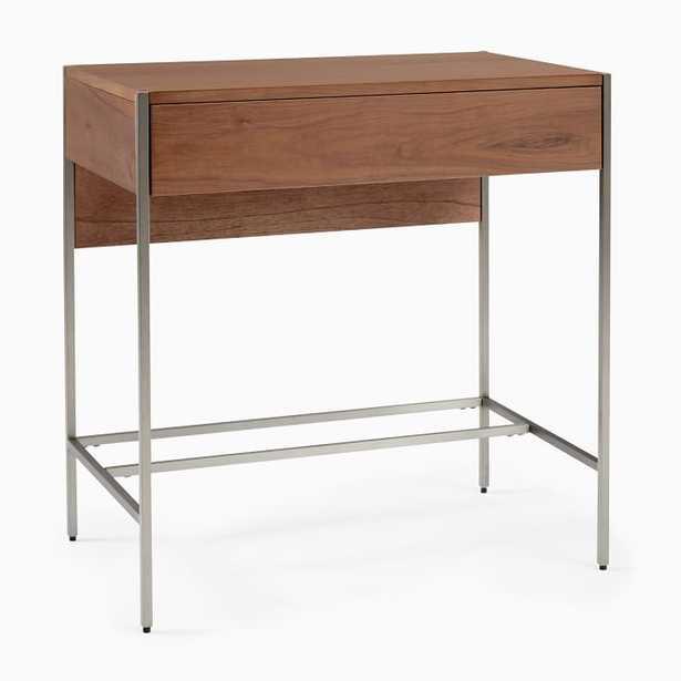 Zane Desk, Mini, Cool Walnut - West Elm