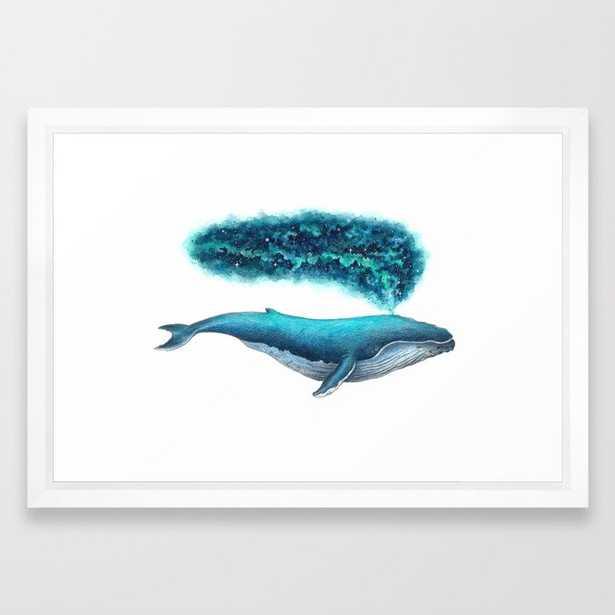 Cosmic Whale Framed Art Print - Society6