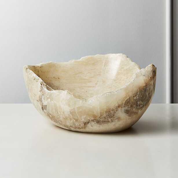 onyx raw edge bowl - CB2