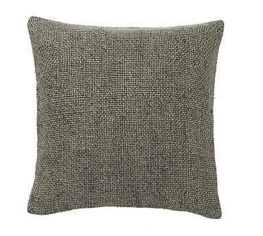 "Faye Textured Linen Pillow Cover, 20"", Sage Grass - Pottery Barn"