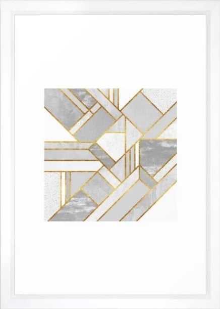 Gold City Art Print - Small by Elisabethfredriksson Vector white - Society6