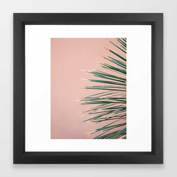 Green on Coral   Botanical modern photography print   Tropical vibe art Framed Art Print - Society6