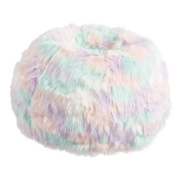 Unicorn Faux-Fur Bean Bag Chair Slipcover, Large + Slip Cover - Pottery Barn