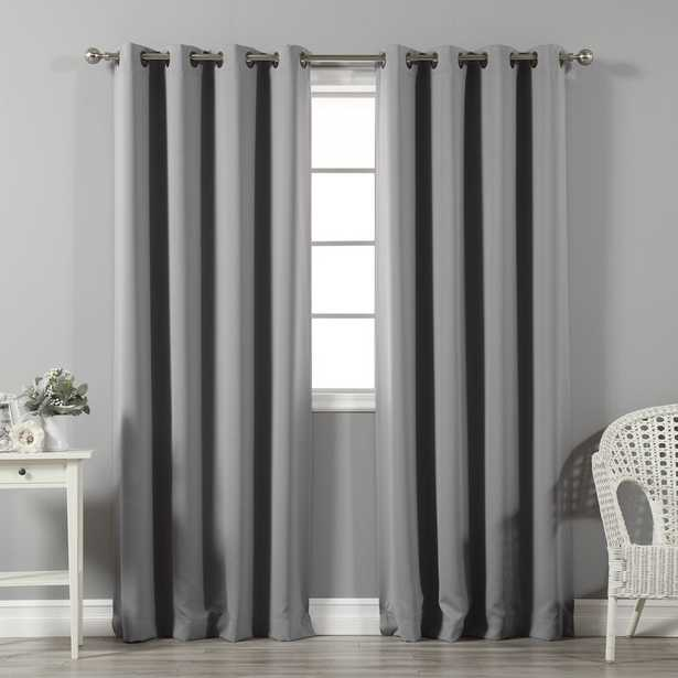 Solid Blackout Thermal Grommet 2 Curtains / Drapes (Set of 2). Gray - Wayfair