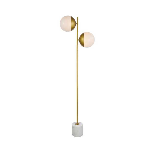 """Yearby 62.5"""" Tree Floor Lamp / Brass / Frosted White - AllModern"""
