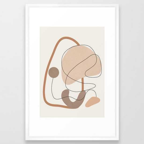 Abstract Line Movement III Framed Art Print - Society6