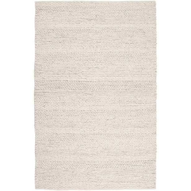 Jocelyn Parchment Handwoven Flatweave Wool White/Charcoal Area Rug - Wayfair