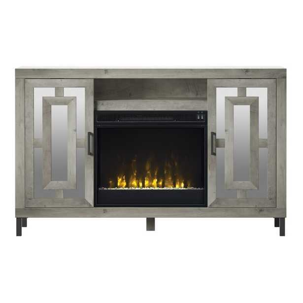 """Carter TV Stand for TVs up to 60"""" with Fireplace Included - Wayfair"""