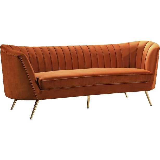 "Lilo Velvet 88"" Flared Arm Sofa - Wayfair"