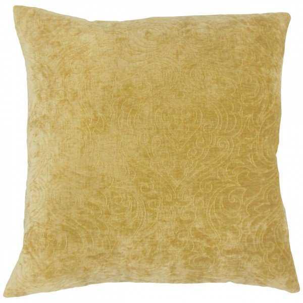 """Hertzel Solid Pillow Yellow - 18"""" x 18"""" - Linen & Seam"""