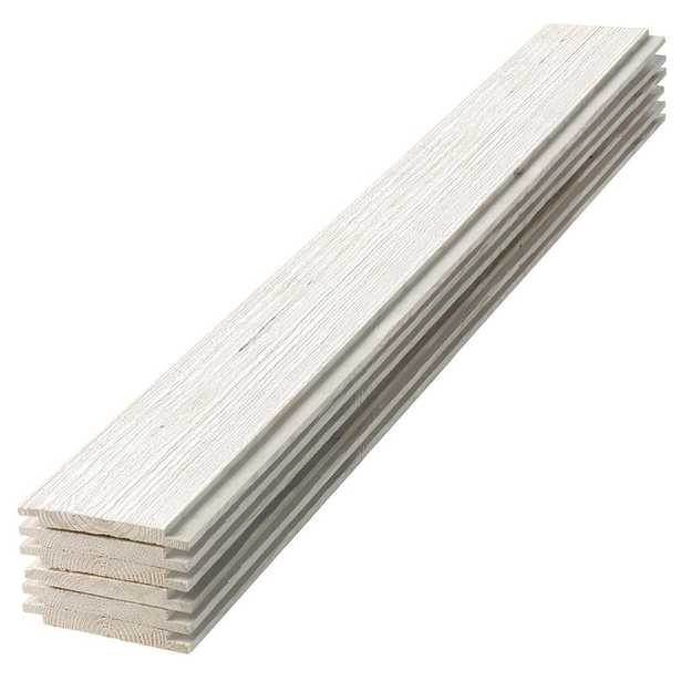 1 in. x 6 in. x 8 ft. Barn Wood White Shiplap Pine Board (6-Pack) - Home Depot