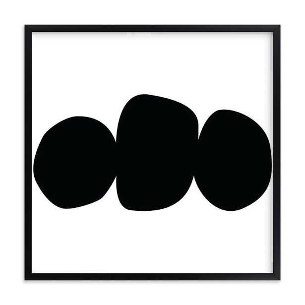 Three Again - Rich Black Wood Frame - Minted