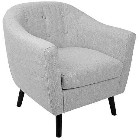Rockwell Light Gray Noise Fabric Accent Chair - Lamps Plus