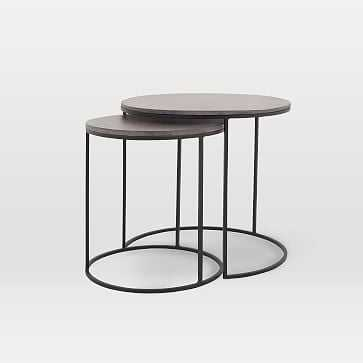 Lavastone Round Nesting Side Tables (Set of 2) - West Elm