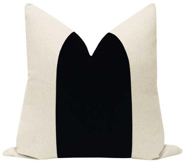 "PANEL :: Signature Velvet // Noir - 18"" x 18"" Pillow Cover - Little Design Company"
