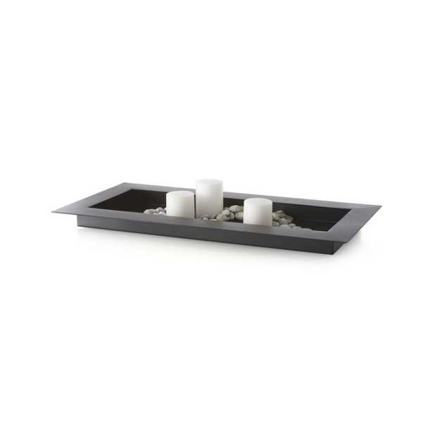 """Reflection 32"""" Black Metal Centerpiece - Crate and Barrel"""