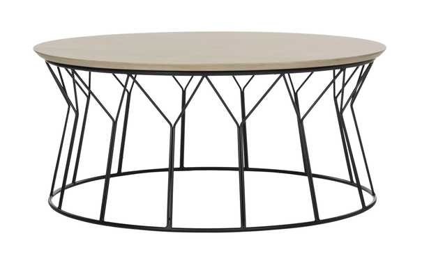 Deion Retro Mid Century Wood Coffee Table - Arlo Home