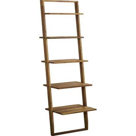"Simonetti 72"" Leaning Bookcase - Smoky Driftwood - AllModern"