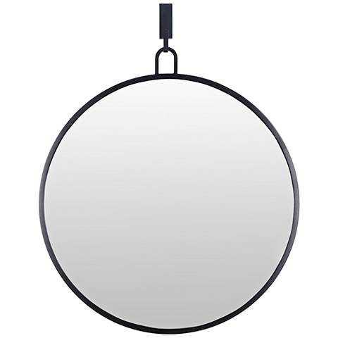 "Varaluz Casa Eli Black 30"" x 30"" Round Stopwatch Wall Mirror - Lamps Plus"