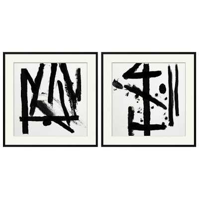 Black and White Abstracts, Set of 2 - Williams Sonoma