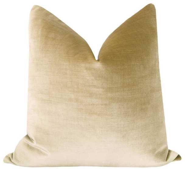 Faux Silk Velvet // Champagne Pillow Cover - 18'' x 18'' - Little Design Company
