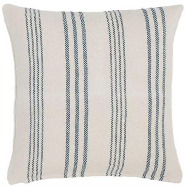 Swedish Stripe Woven Cotton Decorative Pillow - Dash and Albert