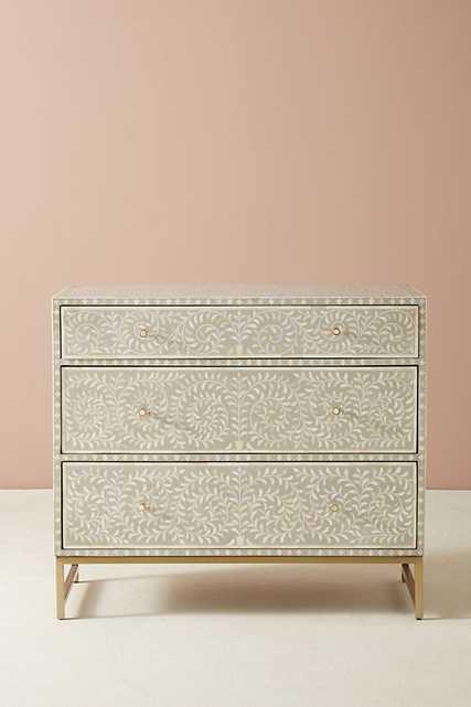 Scroll Vine Inlay Three-Drawer Dresser - Anthropologie