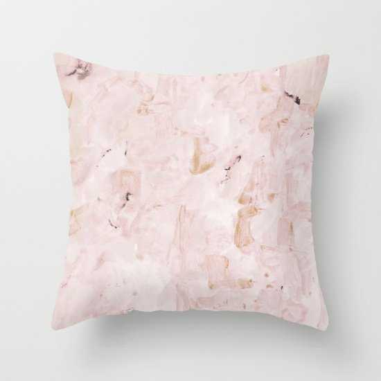 """abstract-soft pink Pillow - 18"""" x 18"""" with Insert - Society6"""
