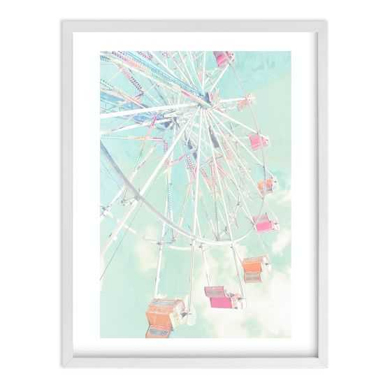 Fair Days 4 Wall Art by Minted® - white frame - Pottery Barn Teen