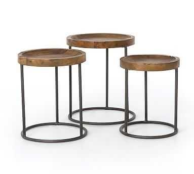 Antero Round Nesting Tables, Set Of 3 - Pottery Barn
