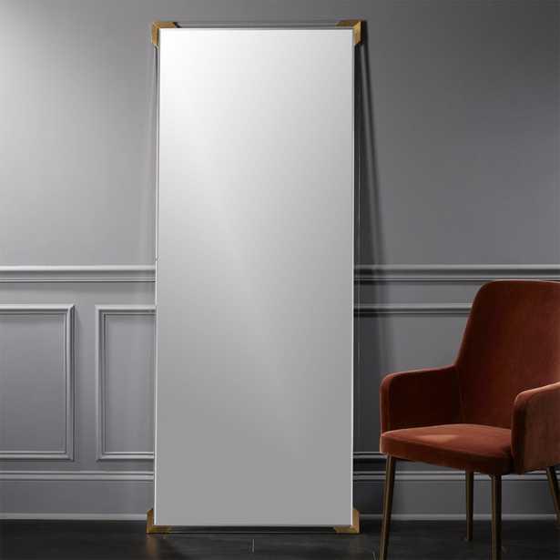 """""""Demi Acrylic Floor Mirror 31.5""""""""x75.5""""""""."""" - CB2"""