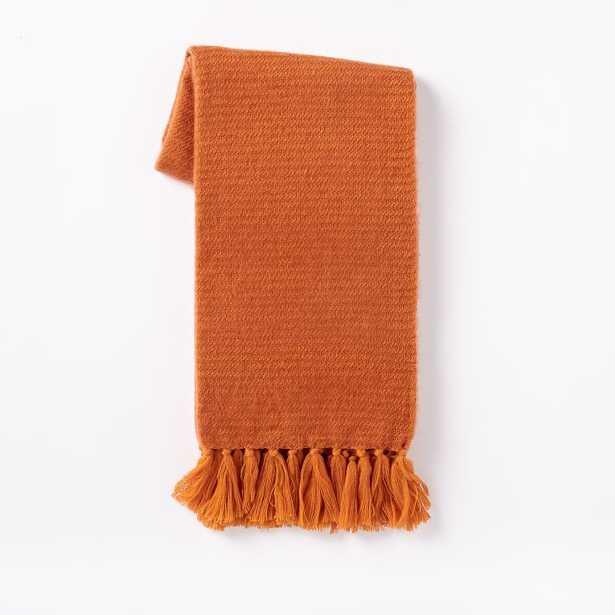 Coziest Throw - Solid - mandarin - West Elm